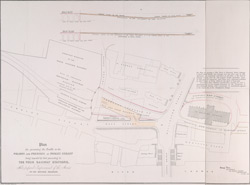 Plan for preventing the Traffic to the WHARFS AND PREMISES IN TOOLEY STREET being impeded by that proceeding TO THE FOUR RAILWAY STATIONS